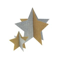 Gold & Silver Star Centerpieces - OrientalTrading.com