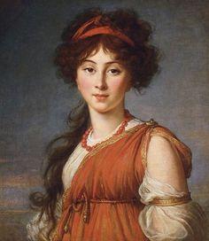 Elisabeth Vigée Le Brun - Varvara Ivanovna Ladomirskaïa, 1800