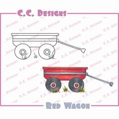 C.C. Designs > Red Wagon - Swiss Pixie Cling Stamp: A Cherry On Top