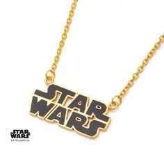 Star wars gold and black necklace