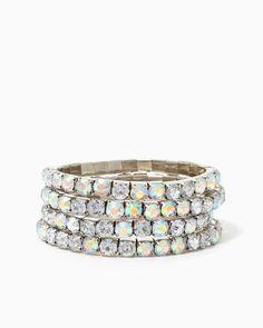 charming charlie   Rainbow Stones Bracelet Set   UPC: 410006719026 #charmingcharlie