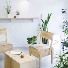 Stunning Lithuanian coffee shop designer Inga Pieslikait paired birch wood furniture with poured concrete fginteriors interiors lithuania via- coffee, shop, love, interior