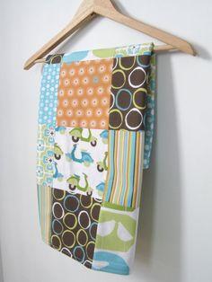 Couverture patchwork pour bébé coton biologique par SetCarre, $65,00