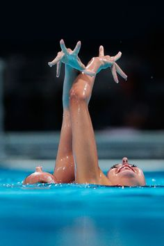 Carbonell Ballestero and Margalida Crespi Jaume of Spain compete during the Synchronized Swimming Duet Free Final on day six of the 15th FINA World Championships at Palau Sant Jordi on July 25, 2013 in Barcelona, Spain.