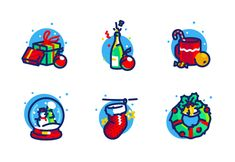 'Christmas time' by Alexander Ponomarchuk Time Icon, Halloween Icons, App Icon, Pixel Art, Icon Design, Christmas Time, Doodles, Product Launch, Concept