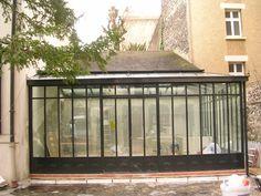 Véranda style atelier dartiste en acier et fer forgé TURPIN LONGUEVILLE