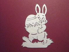 Easter Art, Easter Crafts, Easter Bunny, Christmas Crafts, Deco Stickers, Scroll Saw Patterns, Paper Stars, Kirigami, Paper Decorations