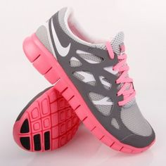 separation shoes 574cf e3ae2 Nike Wmns Nike Free Run+ 2 EXT Silver White Pink LOVE THESE