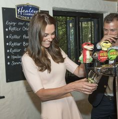 "The ""alcoholic stuff"" came next as Kate poured a pint of the companies famous Rattler Cider. It looked as if she'd done this before!"