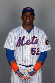 Outfielder Yoenis Cespedes on Photo Day during the Mets Spring training in Florida.