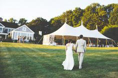 outdoor wedding tent // lawn // Connecticut