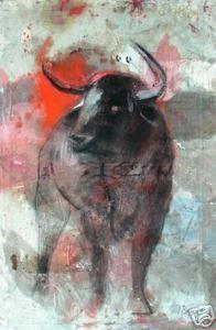 Ignacio Burgos - Toro - Original Signed Painting