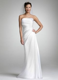 Strapless Charmeuse Gown with Beaded Applique AI10020477
