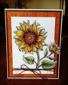 In Praise of Sunflowers stamp set by Power Poppy, card design by  Laurie DiGregorio!