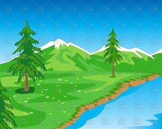 Beautiful mountain landscape with seashore, 91753, Nature, landscape,  Download, Free, Vector, eps, clipart, jpg, images, clip art, graphics