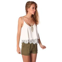 White texture top with lace hem – Fashion Gal Freedom