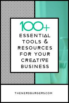 Click on to discover my 100+ essential online tools & resources for your creative business, so you can grow your business, be more productive, make more money, have more free time and become the successful entrepreneur you want to be or save the pin for later!