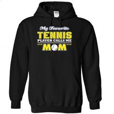 My favorite Tennis Player calls me mom - 1215 - #kids tee #purple sweater. GET YOURS => https://www.sunfrog.com/LifeStyle/My-favorite-Tennis-Player-calls-me-mom--1215-6595-Black-Hoodie.html?68278