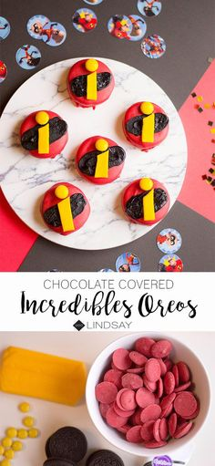 Are your kids obsessed with The Incredibles? Plan the most awesome Incredibles Party with these chocolate covered Oreos. Disney Incredibles, Disney Pixar, Disney Diy, Walt Disney, Boy Birthday, Birthday Parties, Birthday Ideas, Disney Food, Disney Recipes