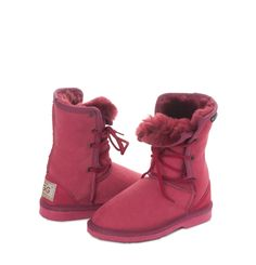 Ruby Kids Lacey UGG Boots #aussie #ugg #uggboots #australian #australia #sheepskin #boots #lacey #ruby