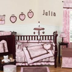 Pink & Brown French Toile Bedding by Sweet Jojo Designs - Toile Crib Bedding - pinkbrowntoile-9