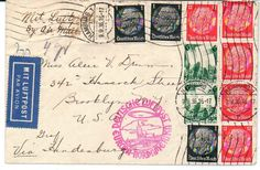 German Empire Zeppelin Brief von Hamburg nach Brooklyn USA vom 9.9.36. Dekorativ Frankatur. 8 Nordamerikafahrt  Lot condition   Dealer PPH Asbit  Auction ...