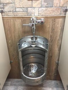 Beer Keg Urinal Stainless Novelty Toilet for Bistro Cafe Restaurant Winebar Brewery or Man Cave keg urinal Man Cave Toilet, Man Cave Bathroom, Man Cave Room, Man Cave Home Bar, Basement Bathroom, Man Cave Couch, Man Cave Garage, Man Cave Basement, Garage Bar