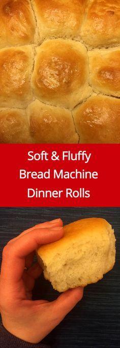 Easy Soft Bread Machine Dinner Rolls Recipe | MelanieCooks.com