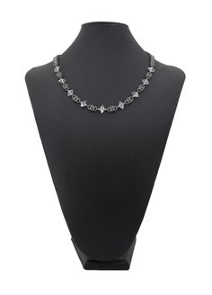 Chainmaille crystal necklace from Couture Armour.