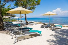 Hotel Lemongarden and Brown Beach House, two boutique hotels, offer some glamour by the sea. Brown Beach House, Croatian Islands, Outdoor Pool, Outdoor Decor, Beach Hotels, Boutique, Strand, Beautiful Gardens, Sun Lounger