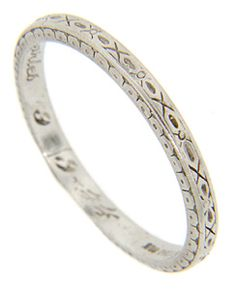 Awesome This Tiffany retro modern wedding band is crafted of palladium and features repeating engraved geometric