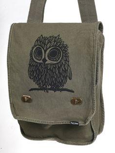 Owl Messenger Bag by miasunique on Etsy, $28.00