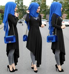 Advertisement l Advertising l advertising 💙 ————– € … – Hijab Fashion Modern Hijab Fashion, Islamic Fashion, Abaya Fashion, Muslim Fashion, Modest Fashion, Hijab Outfit, Hijab Style Dress, Hijab Chic, Modest Dresses