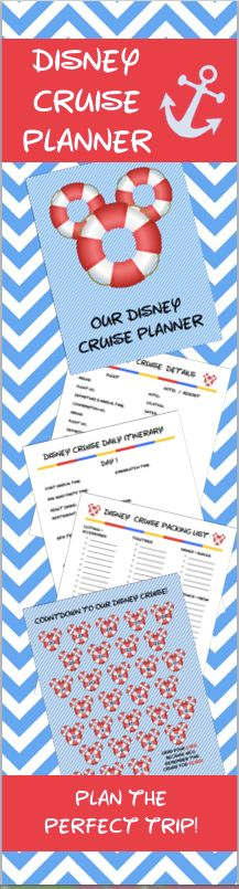 Planning to go on a Disney Cruise?  Use this printable planning kit to plan out the most magical cruise and vacation of a lifetime!  Includes all of the details you need to have a stress-free trip and not forget anything!  Includes a suggested packing list, budget tracker and a daily navigator.  Must have for even seasoned cruisers!