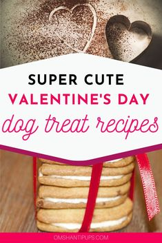 Valentine's Day is a fun holiday to enjoy with your dog! They're part of the family, and love to join in the fun. Celebrate Valentine's Day for dogs with these adorable and easy heart-shaped dog treat recipes that are super cute! Diy Valentine's Treats, Homemade Dog Treats, Healthy Dog Treats, Dog Treat Recipes, Dog Food Recipes, Frozen Strawberry Smoothie, Fruits For Dogs, Valentines Day Dog, Chicken For Dogs