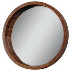 On Sale for $304.99 Ren-Wil Lucerne Mirror from AllModern. It's Oak. But I bet you could find something similar at H.G. Don't know what the knob is that they anchored the rope to the mirror with