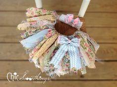 Fabric Tutu, Blue Truffle Vintage Tea Party Lace, Shabby Chic Tutu, Baby Tutu…