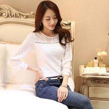 2015 nova moda mulheres manga comprida blusas outono verão inverno elegante camisa Plus Size Ladis Top(China (Mainland))