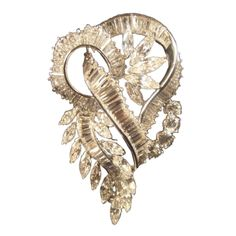 """Superb 1960's Platinum Diamond Brooch with Provenance 