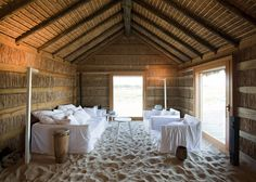 Casas Na Areia, Portugal Casas Na Areia is a 2010 project from our good friend, the architect Manuel Aires Mateus. What started as a project for a weekend house ended in a small hotel published in the. Hotels In Portugal, Lisbon Portugal, Portugal Vacation, Hotel Boheme, Bungalow, Hotel Am Meer, Sand House, Sand Floor, Thatched Roof