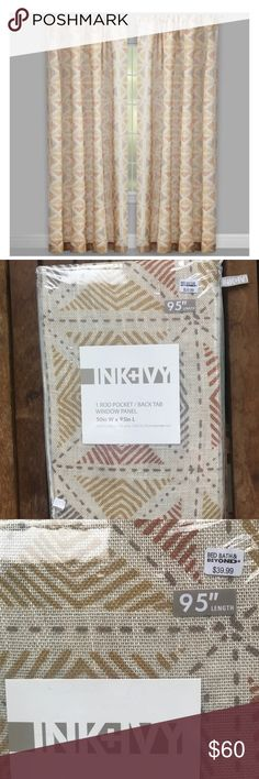 Ink+ ivy window curtains panel drapes window cover 4 brand. Ew curtain panels beautiful colors to add some jazz to any space. All are brand new never opened ink+ivy Accessories