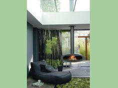 La nature s'invite au salon / When nature sets in the livingroom : http://www.maison-deco.com/salon/deco-salon/Des-salons-plein-de-vie