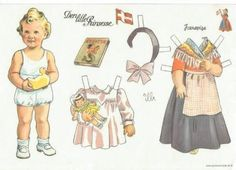 DANISH Den lille Prinsesse påklædningsdukke fra 1943. Motiv til invitation TRANSLATED The Little Princess Cutout from 1943. Motive for Invitation