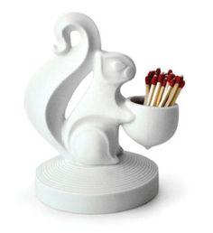 Jonathan Adler White Porcelain Match Strike Squirrel.  $46