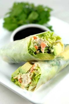 California Rice Paper Rolls...sushi but with rice paper!