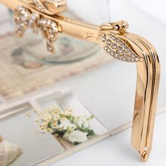 Gold purse frame in) bag frame metal frames clutch frame purse supplies Gold Purses, Frame Purse, Metal Frames, Photo Lighting, Bangles, Bracelets, Trending Outfits, Unique Jewelry, Handmade Gifts