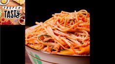Peanut Noodle Pasta Salad - use GF noodles Tasty Videos, Food Videos, Vegetarian Recipes, Cooking Recipes, Healthy Recipes, Soup And Salad, Pasta Salad, Proper Tasty, Great Recipes