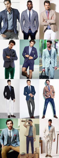 Mens Smart-Casual Office Dress Code Lookbook - Spring/Summer Inspired