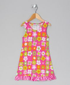Take a look at this Citrus Fab Floral Fit & Flare Dress - Infant, Toddler & Girls by Bubble & Squeak on #zulily today!