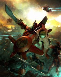 In the grim darkness of the far future. Warhammer 40k Art, Warhammer Fantasy, Tau Battlesuit, Empire Tau, Grey Knights, Far Future, The Grim, Space Marine, Dark Fantasy